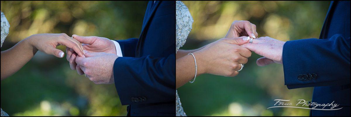Sam & Steve's Wentworth Wedding - exchange of rings