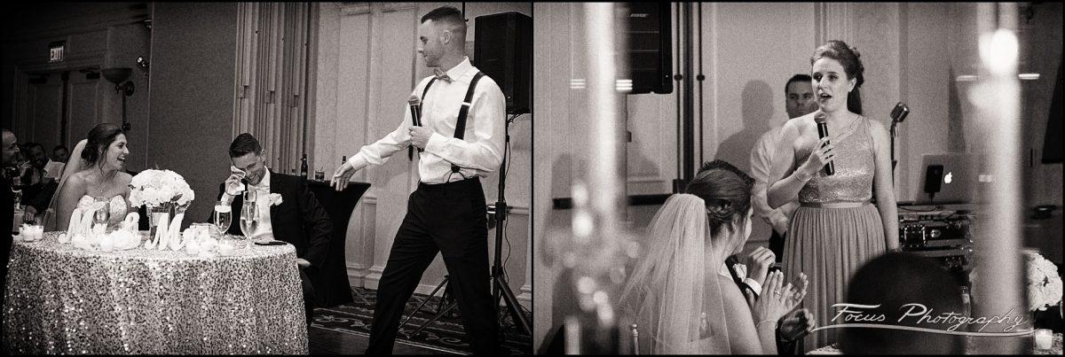 Sam & Steve's Wentworth Wedding - best man, maid of honor toasts