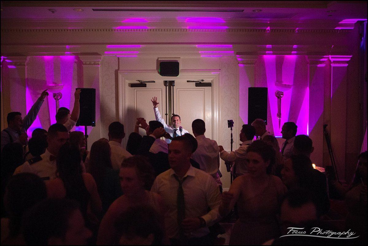 Sam & Steve's Wentworth Wedding - dj across room