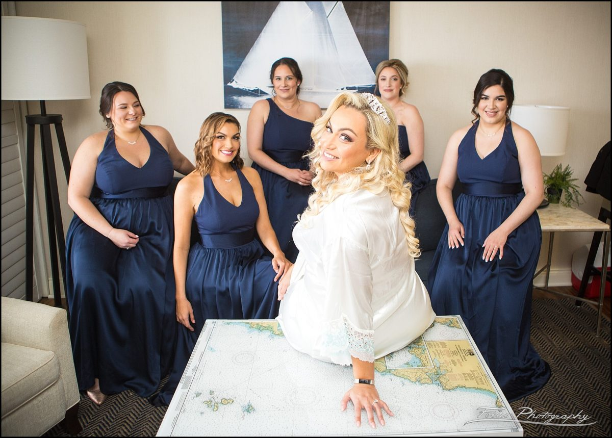 In the bridal suite - bridesmiads  from Wentworth by the Sea Wedding