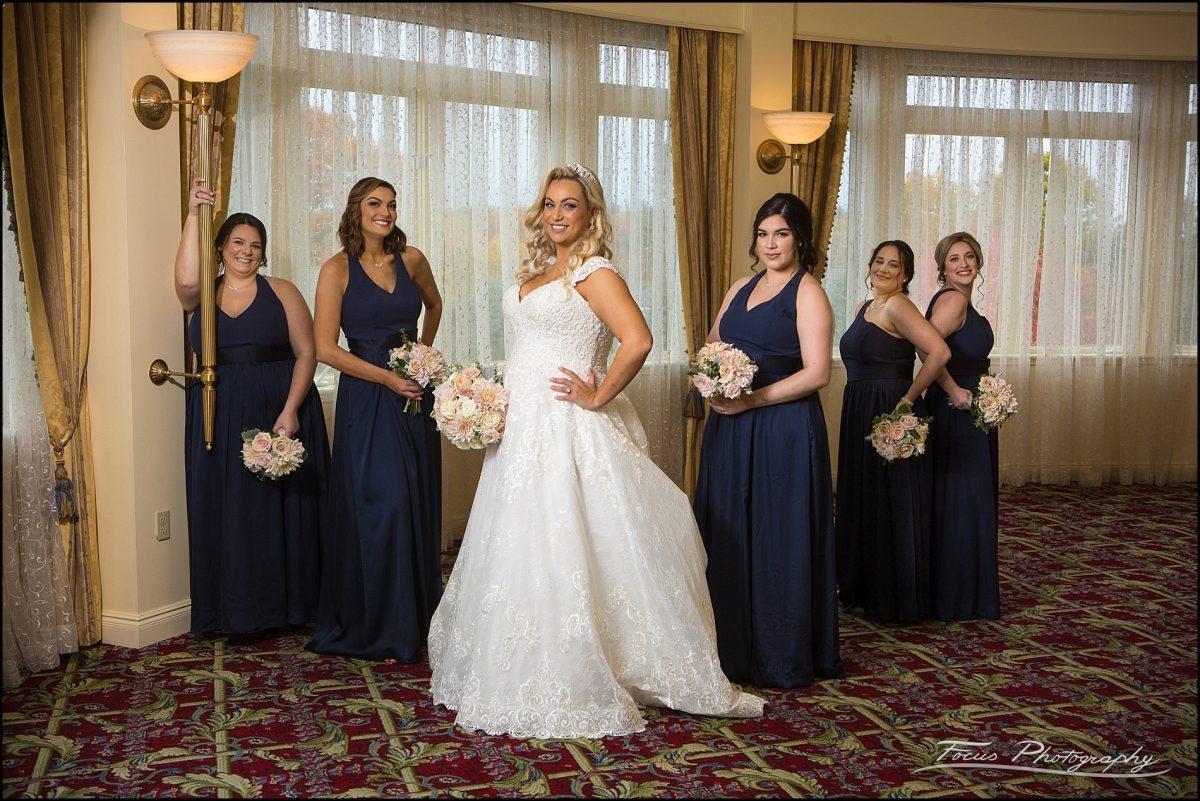 Bridal party at Wentworth wedding