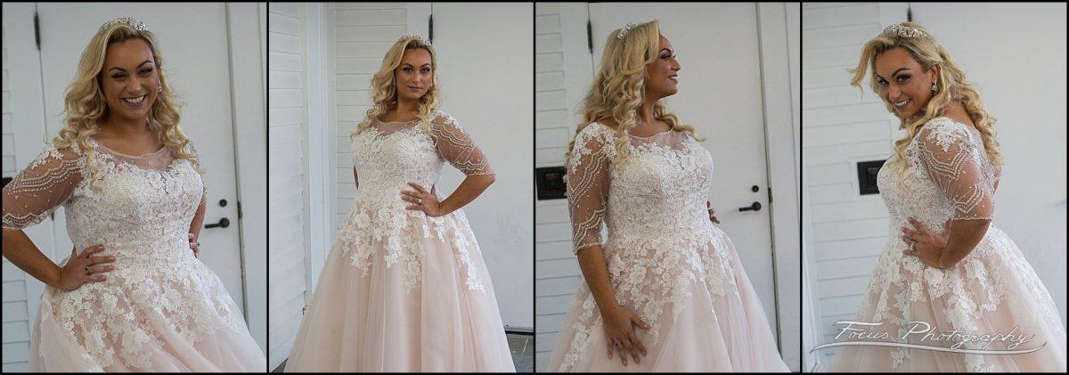bride in second wedding gown