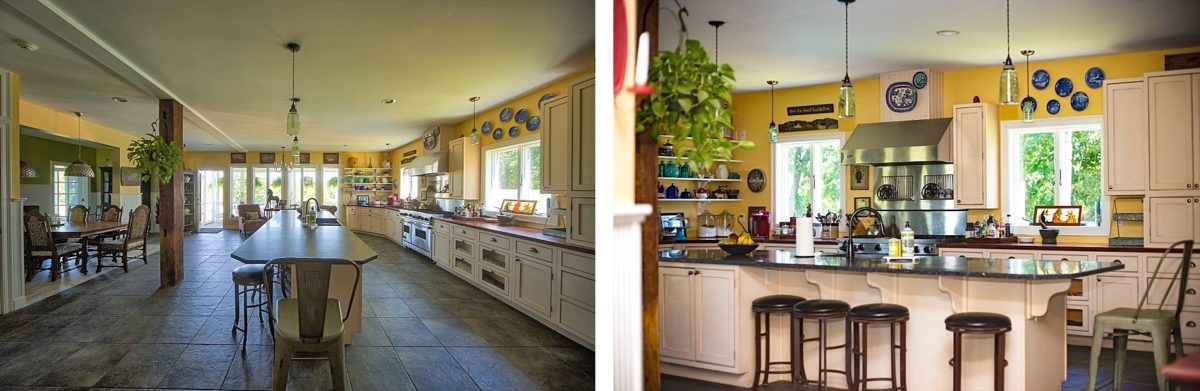 professional kitchen at river winds