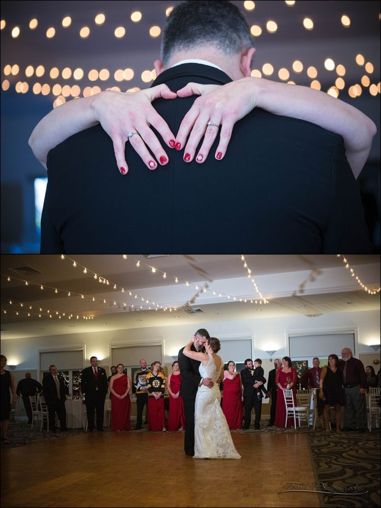first dance at  Village by the Sea wedding in Wells, Maine