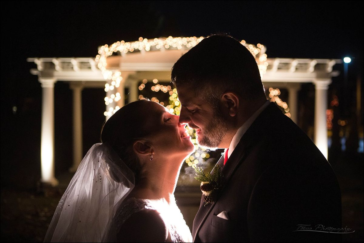 a last kiss for wedding couple at VBTS wedding in Wells