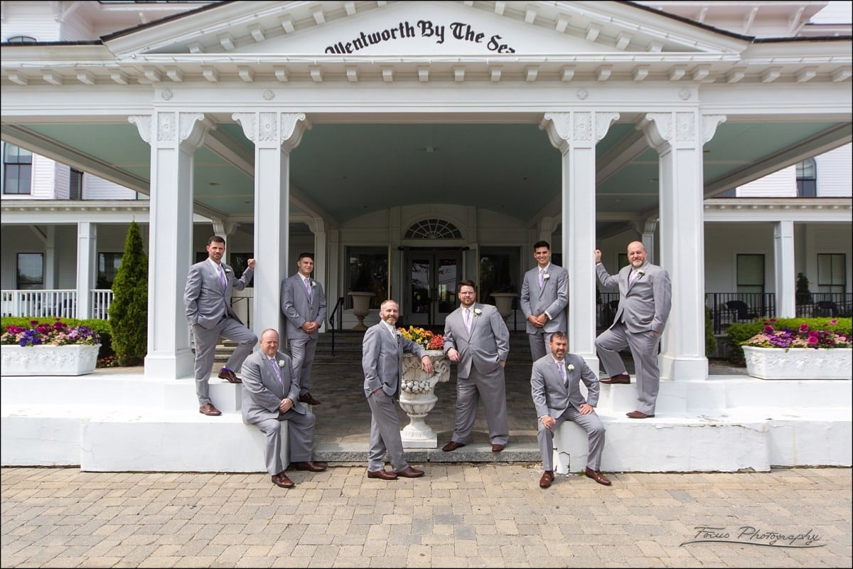 groomsmen at the Wentworth by the Sea