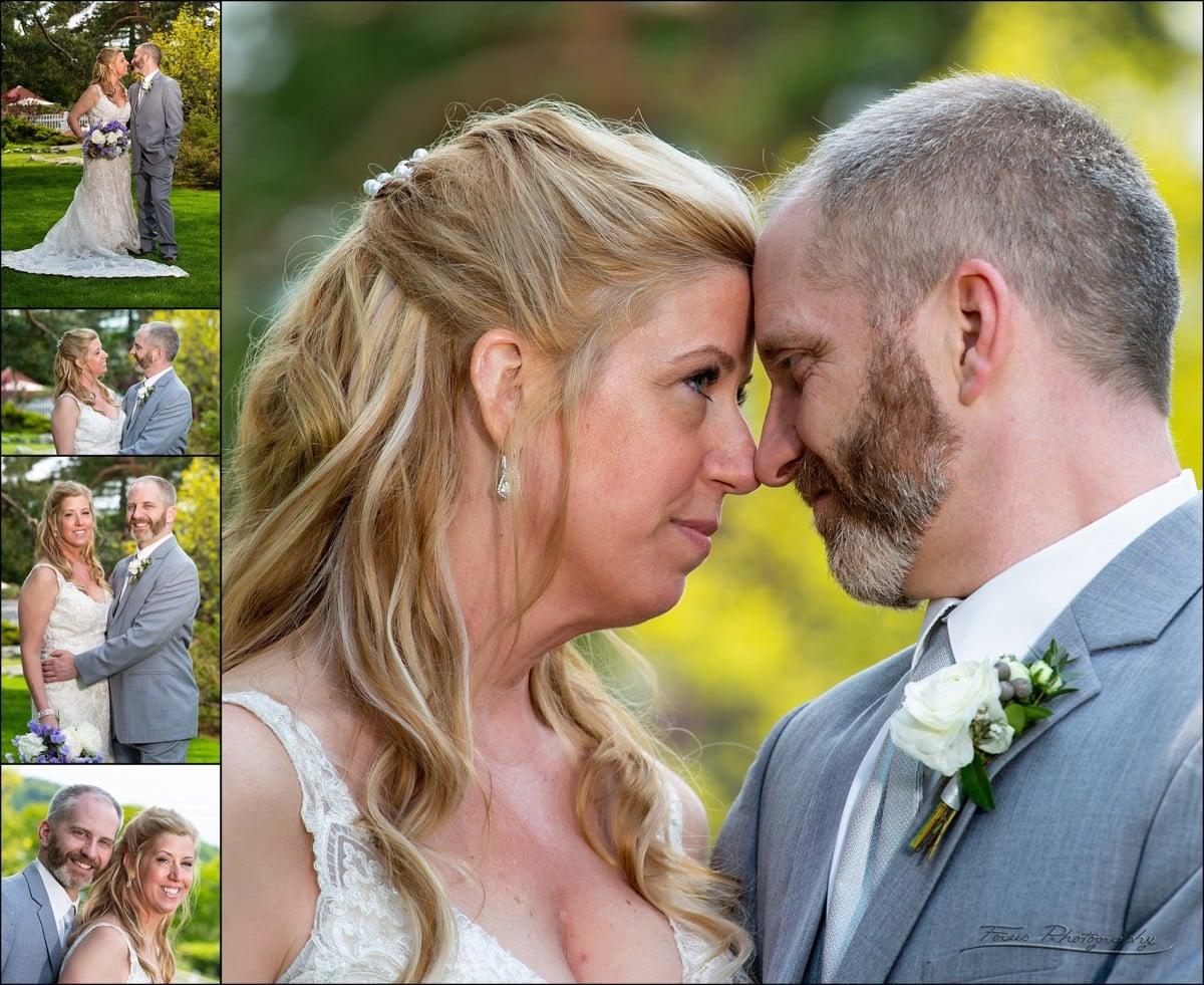 wedding formals of bride and groom