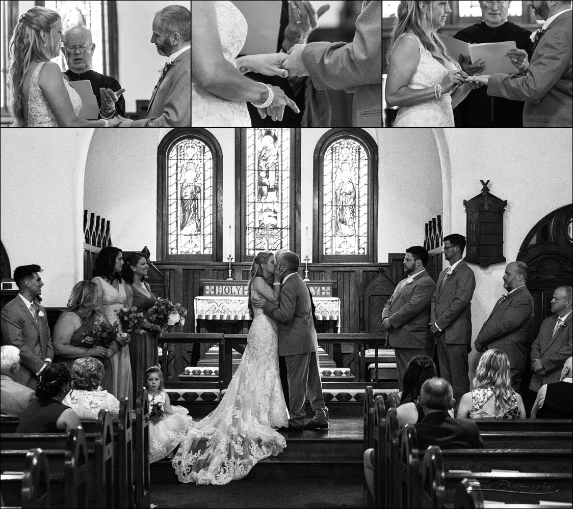 Wedding Ceremony at St. Andrews by the Sea in Rye, NH