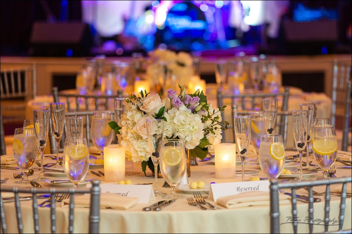 Table settings at the Wentworth Grand Ballroom