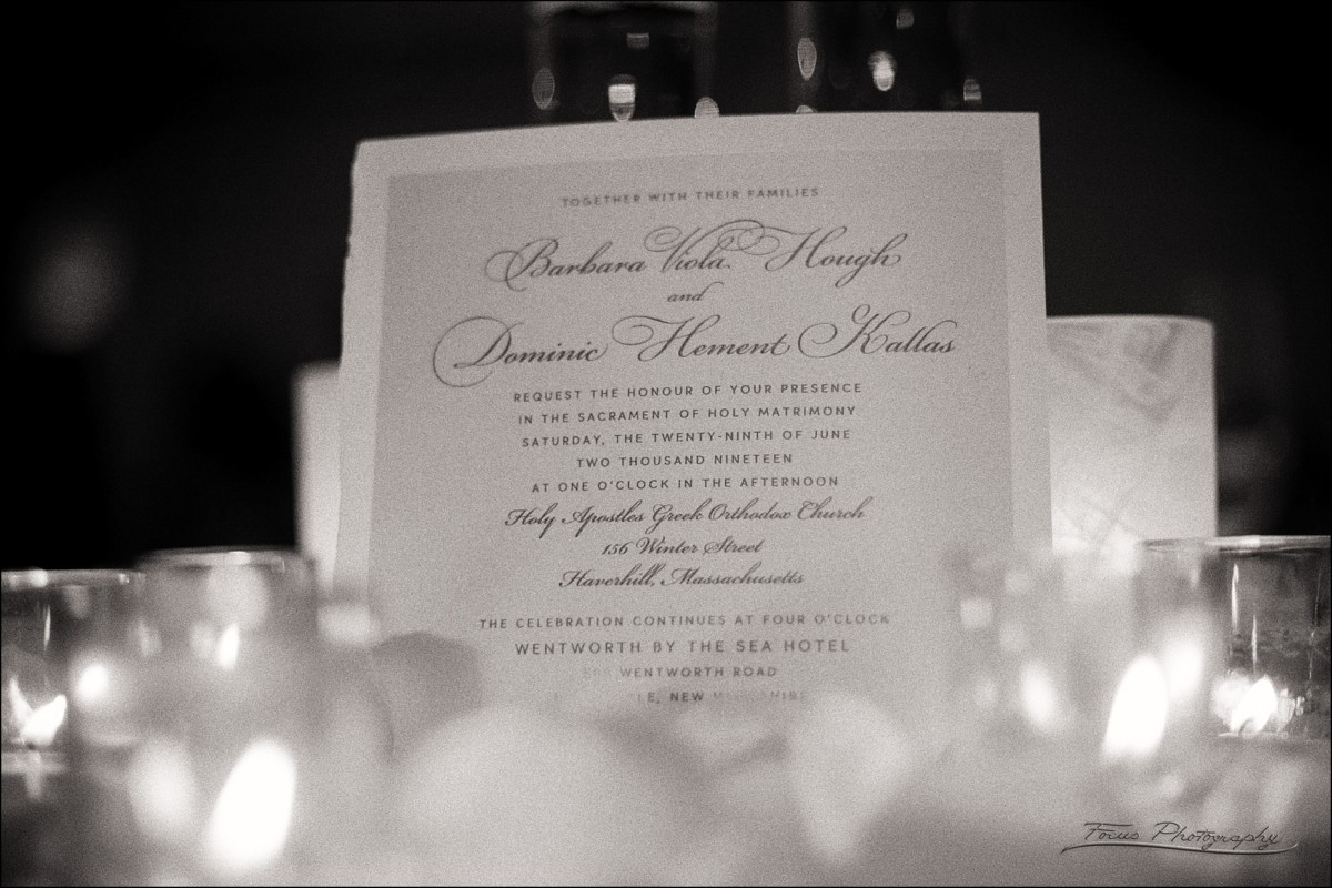 the wedding invite