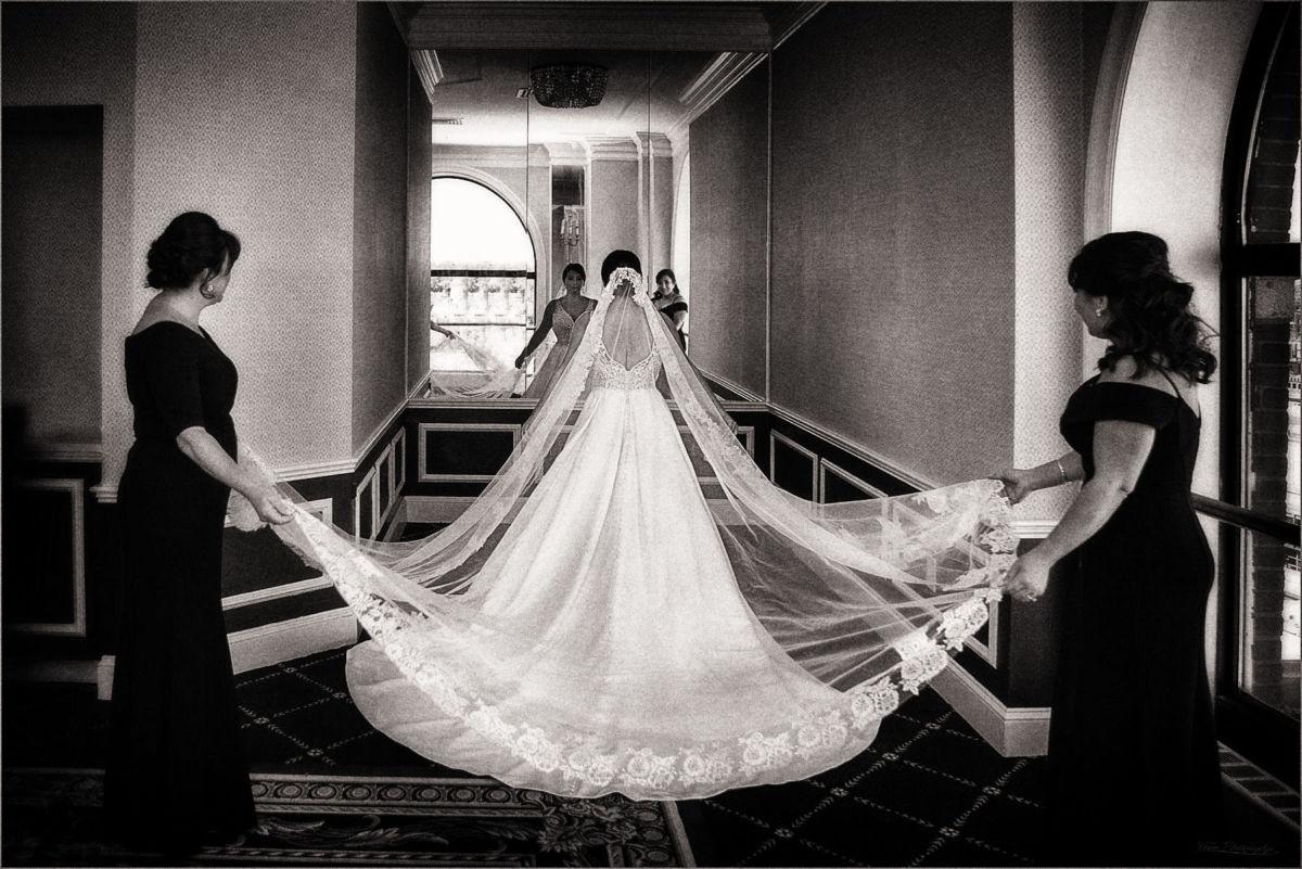 Bride at Providence Graduate Hotel. Wedding Photographers: Focus Photography