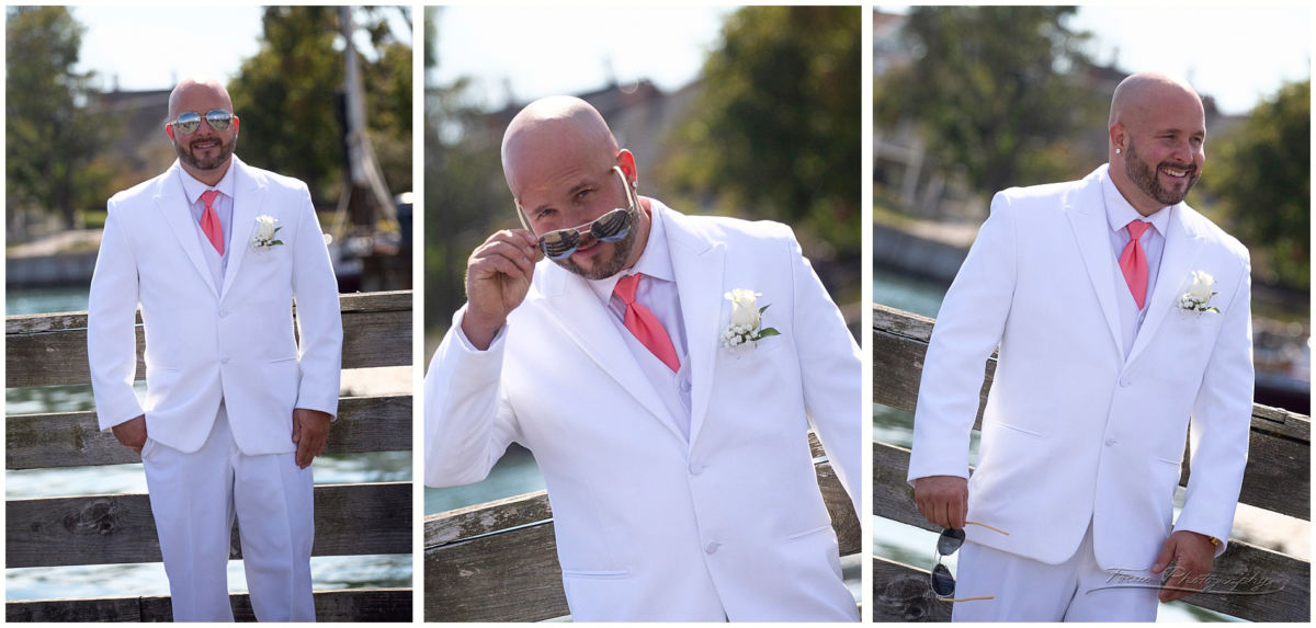 The groom at the water's edge