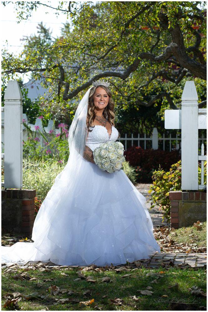 bride at Prescott Park in portsmouth, NH