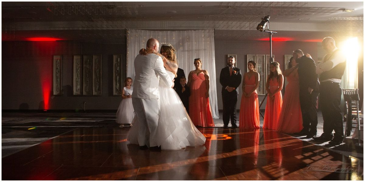 The first dance at the Envio event center at Portsmouth's AC hotel