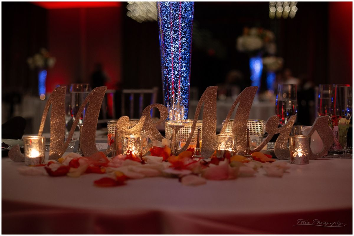 The sweetheart Table at the Envio Portsmouth Wedding LB 161