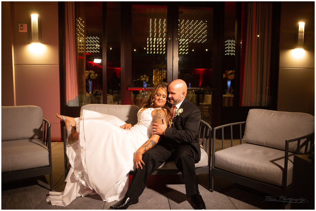 end of night pictures of wedding couple at Envio Portsmouth Wedding LB 162