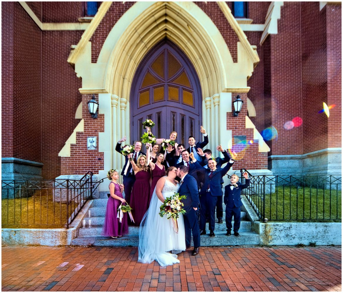 wedding party at the Cathedral of the Immaculate Conception