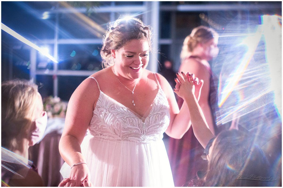 bride dancing at the wedding