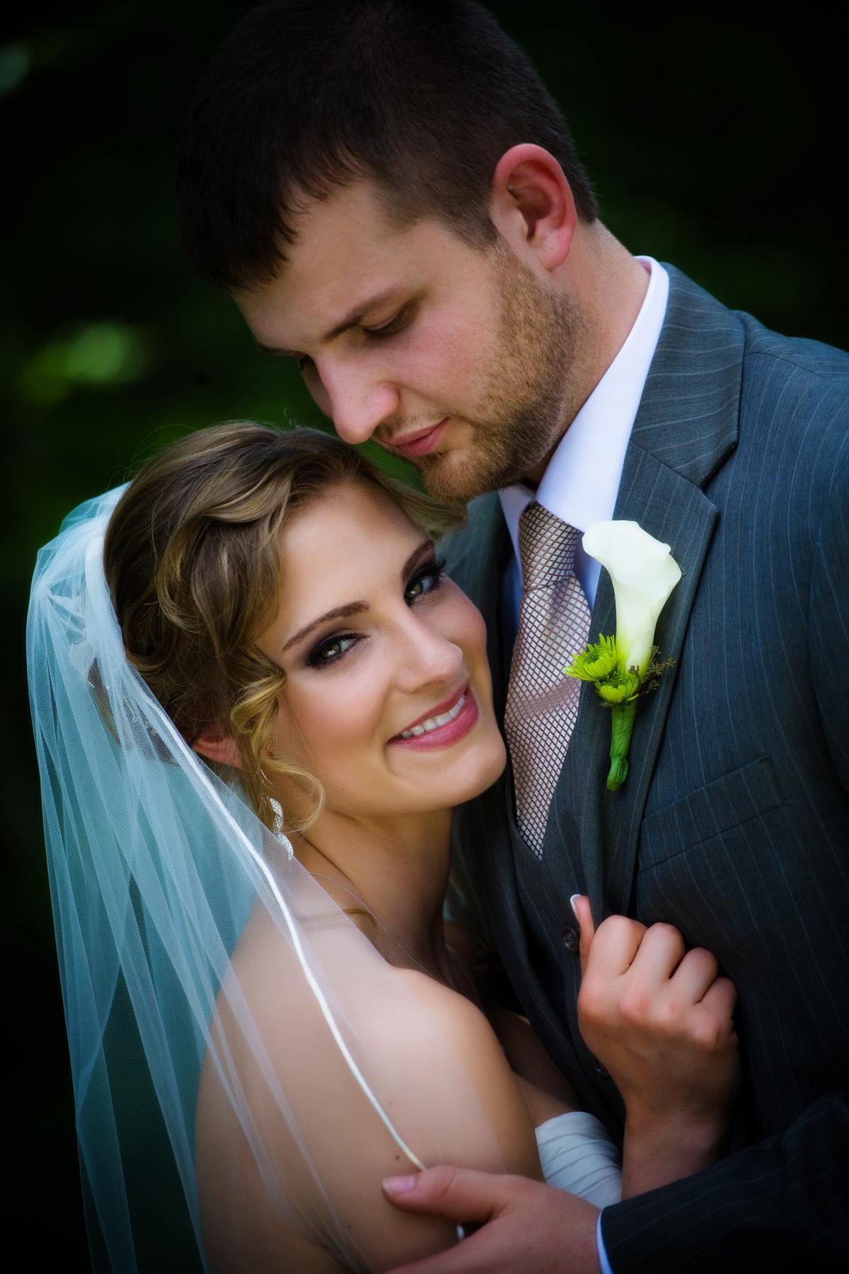 wedding couple close portrait