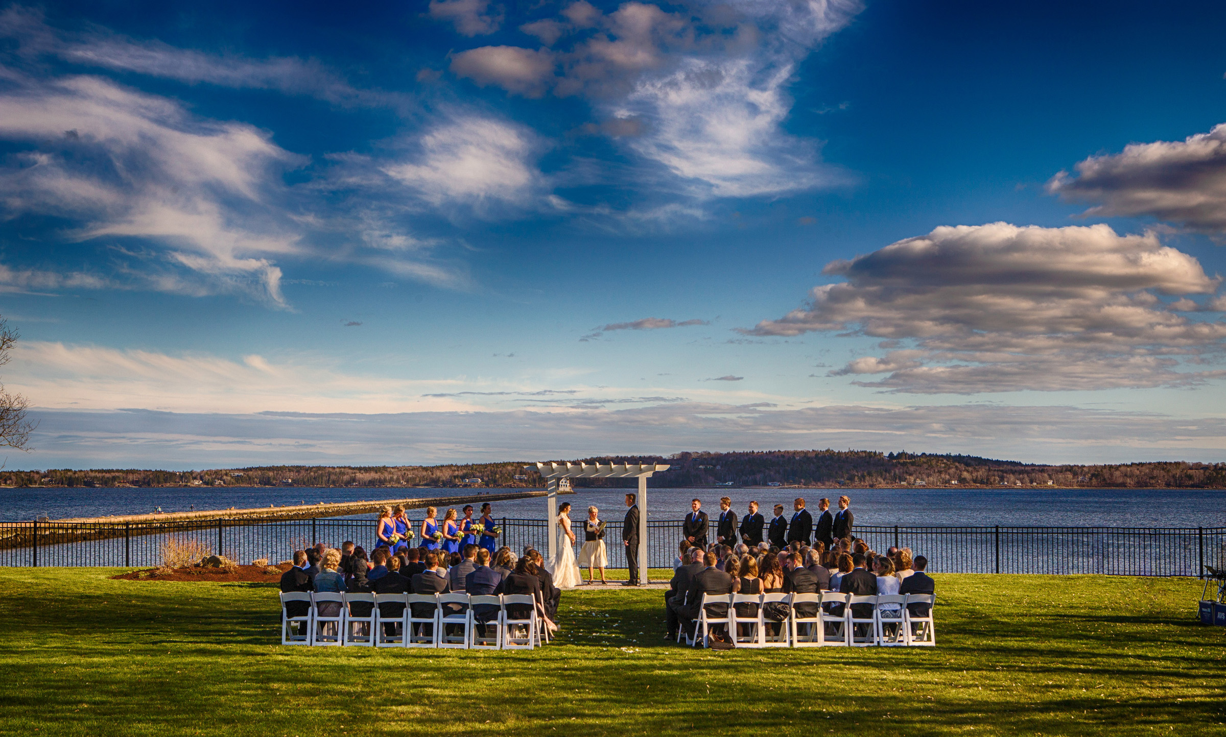 wedding ceremony at Samoset resort
