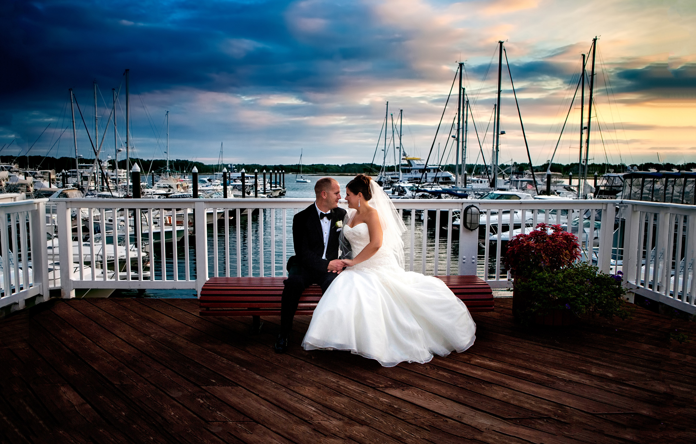 wedding couple at Wentworth Marina - wentworth by the sea wedding, new castle, new hampshire