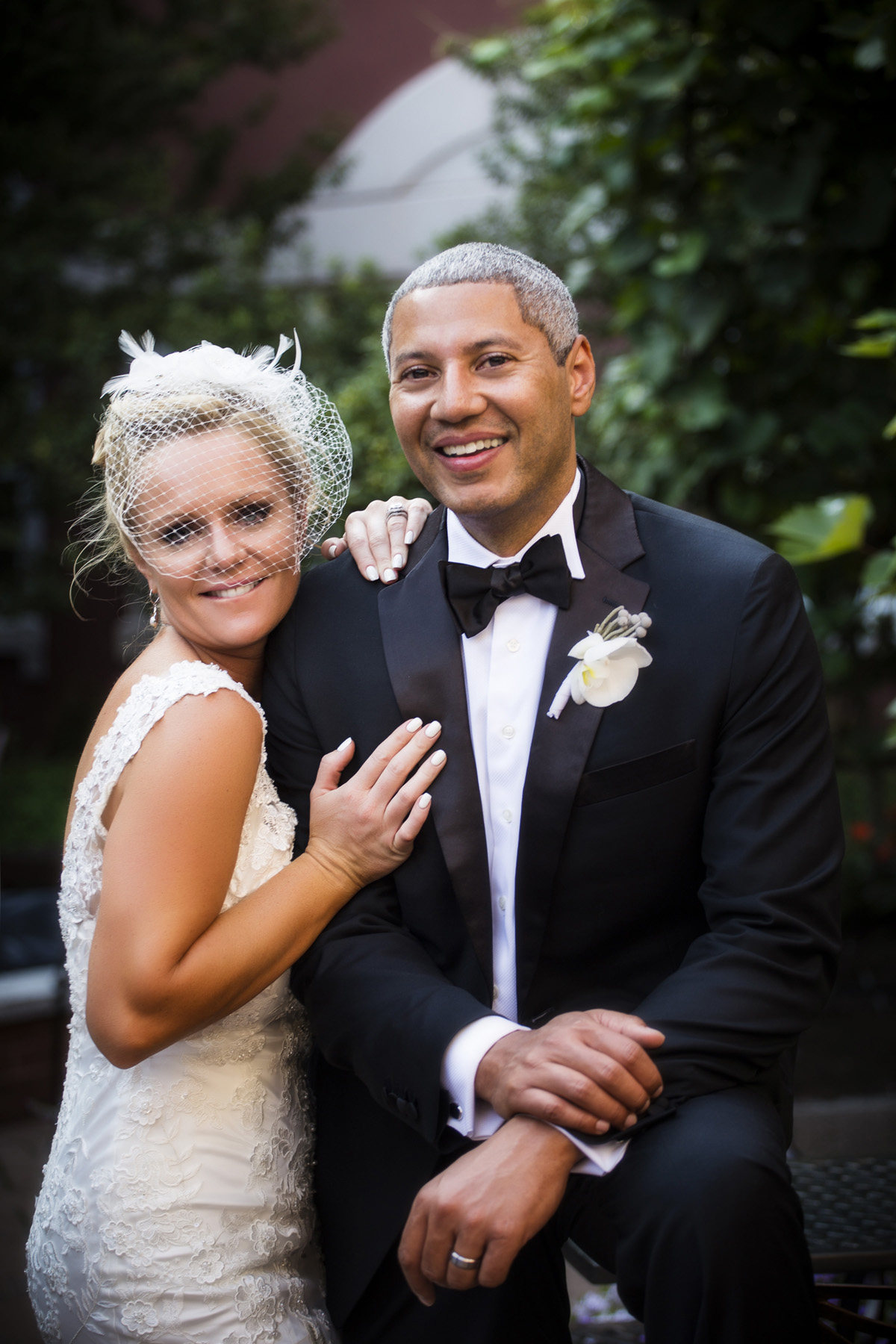 portland maine wedding couple