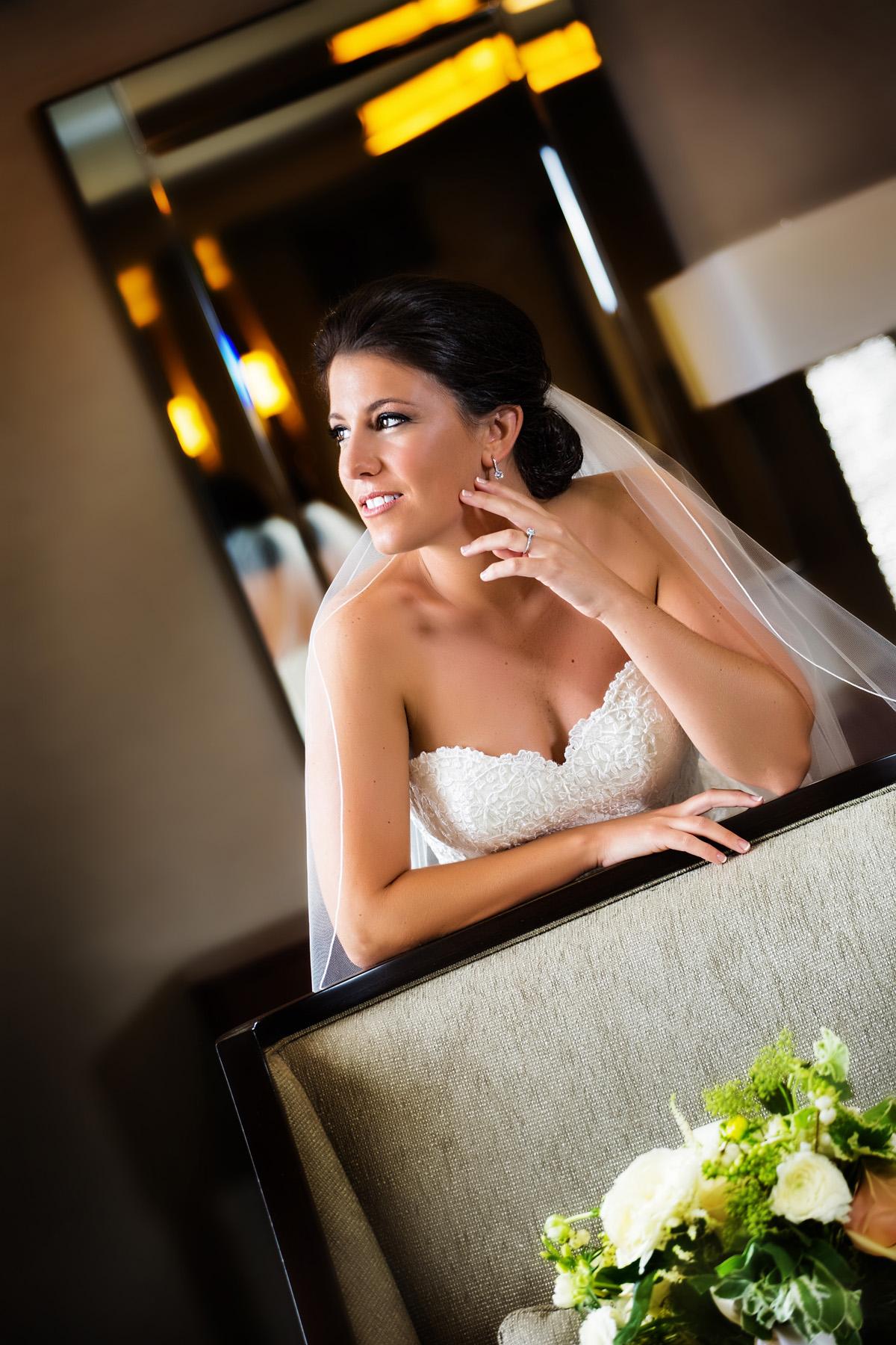 bride in portland maine's westin hotel