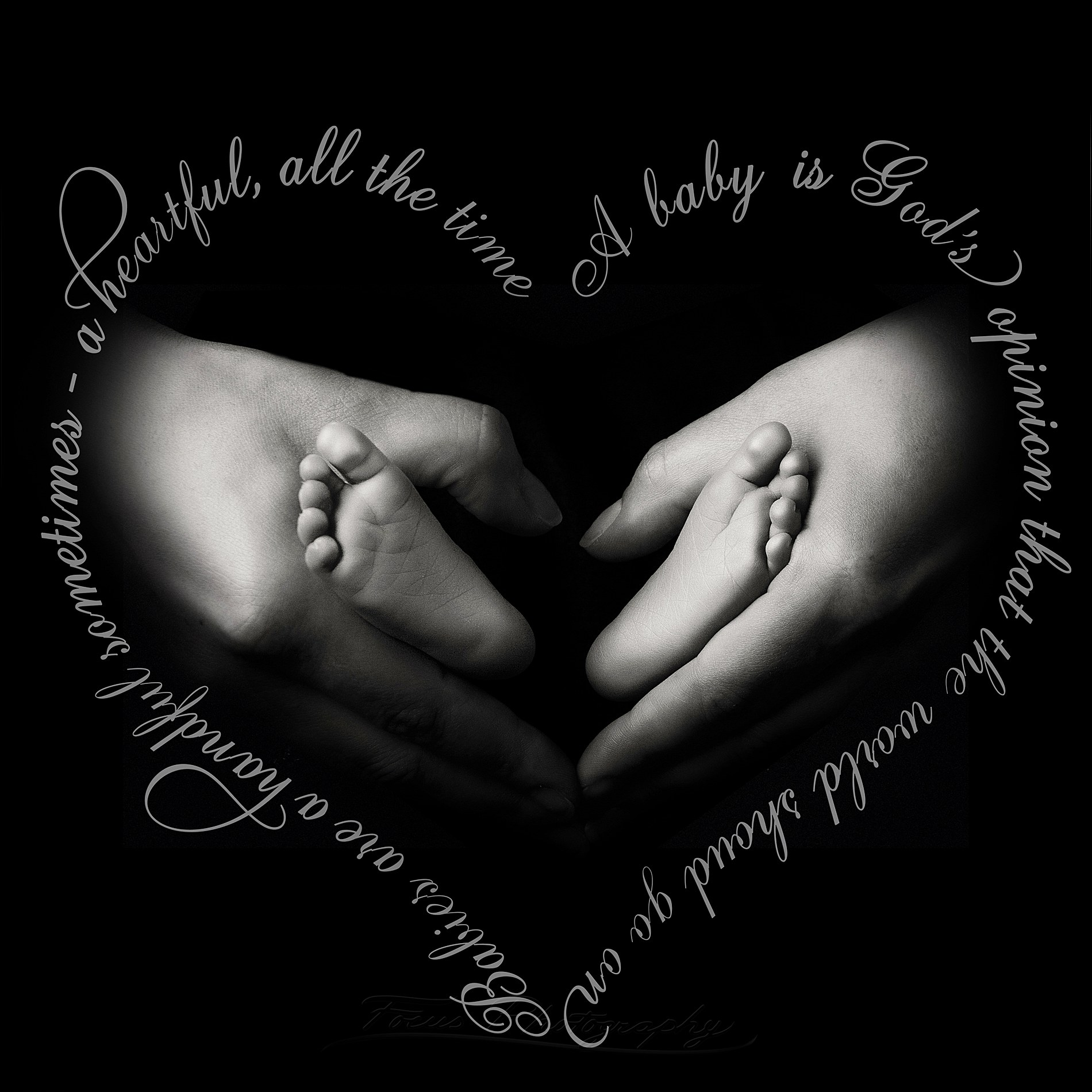 black and white newborn photography of hands holding little feet in this photo