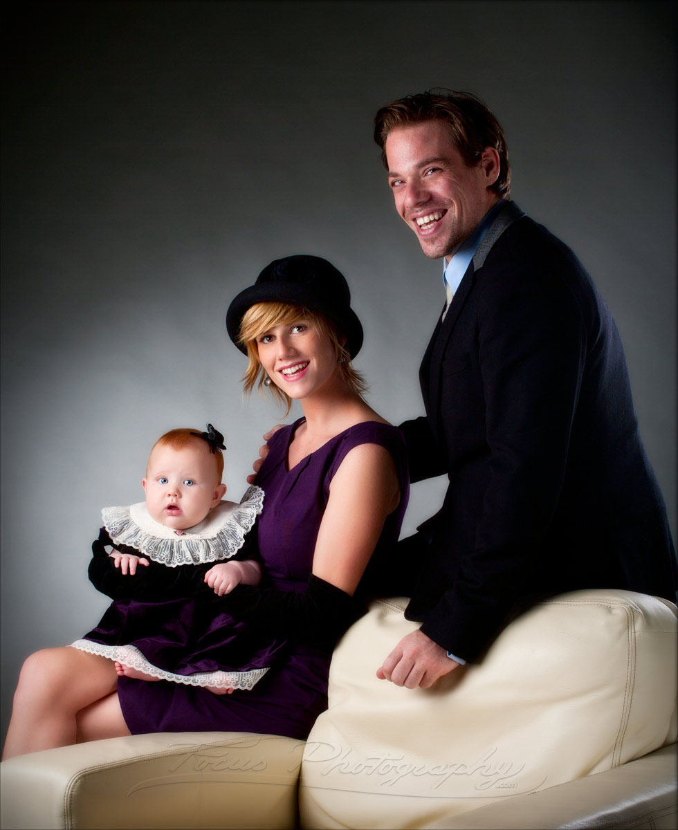 hipster family photo with plum dress