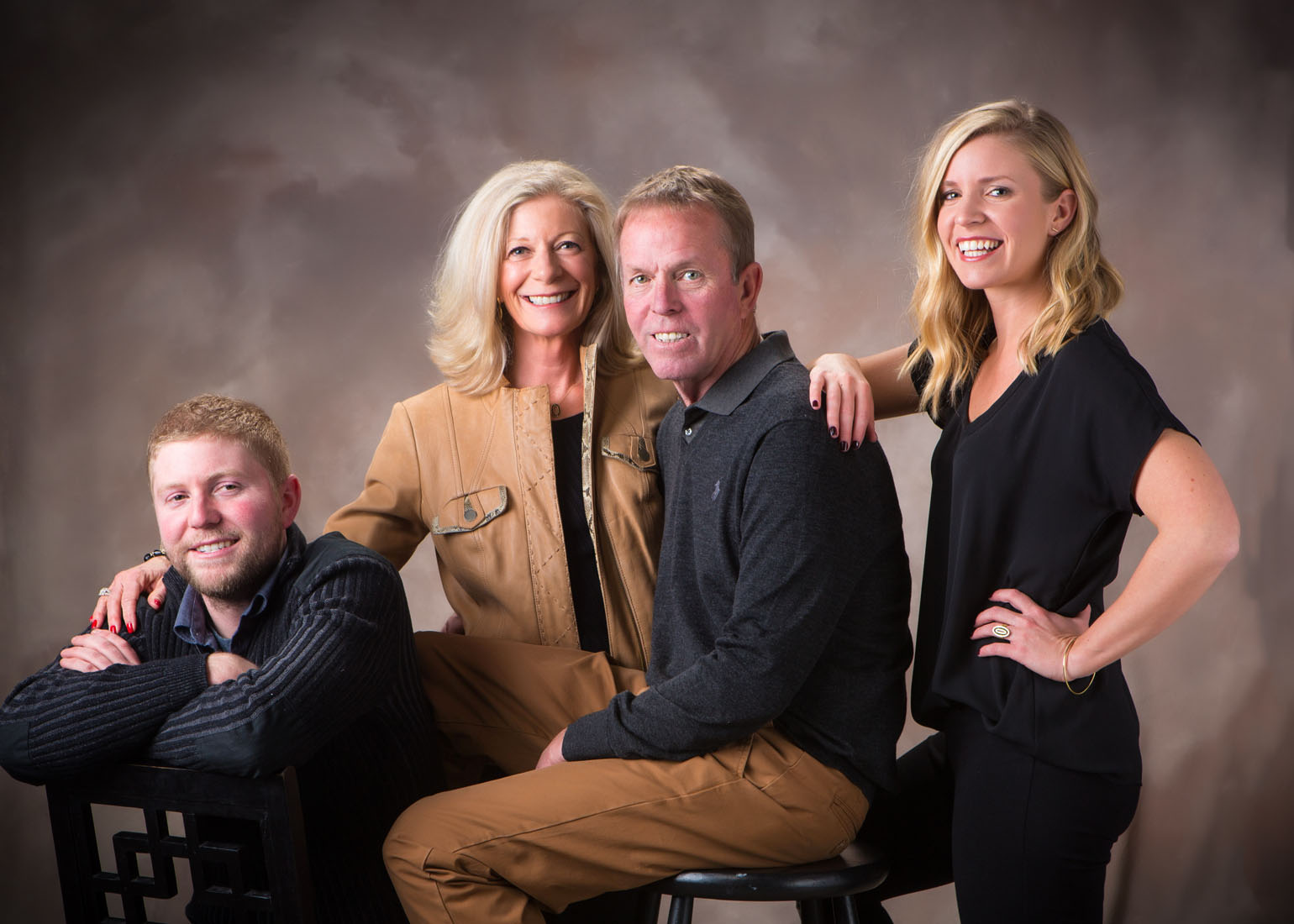 contemporary family photography in portrait studio in maine