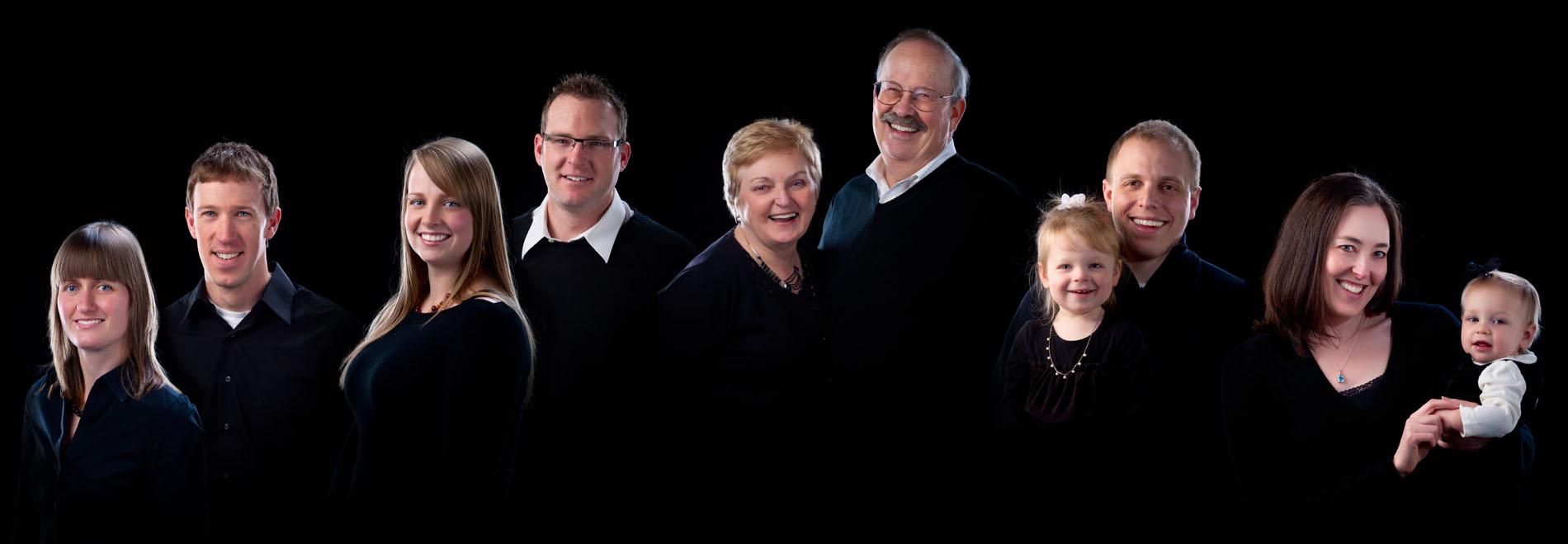 group photo on black