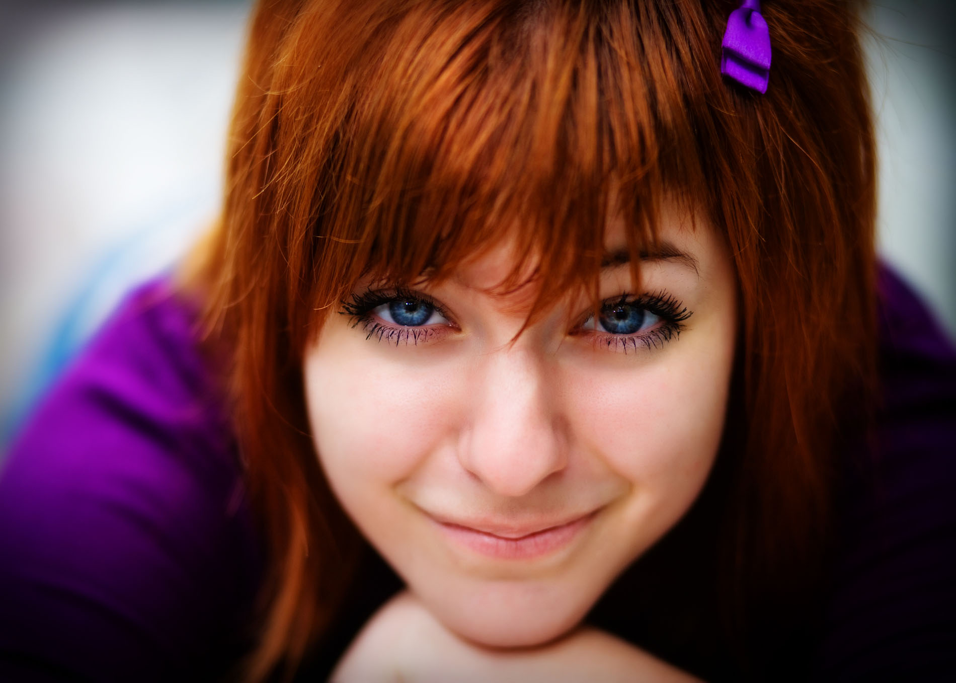 senior girl photographed close up