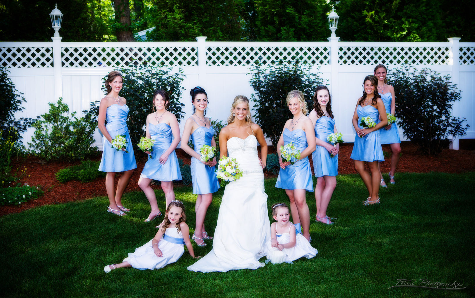 bridal party portrait by maine wedding photographers Focus Photography