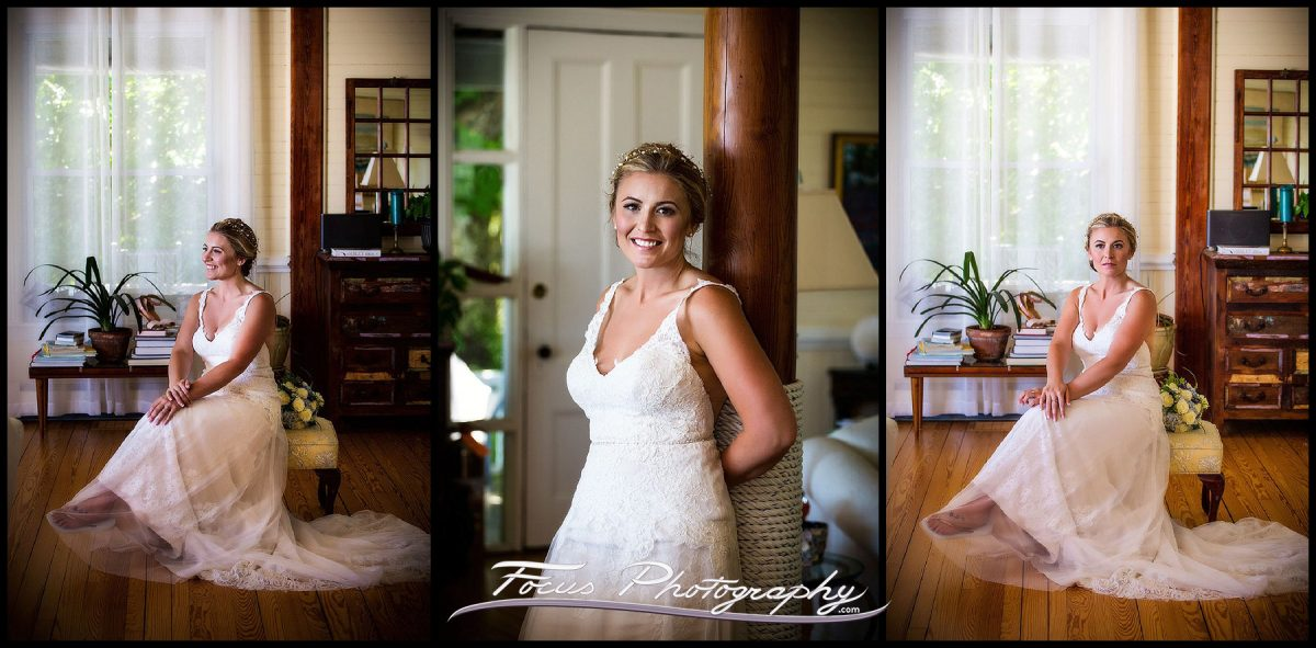 Bridal portraits of Liz by Maine wedding photographers Focus Photography
