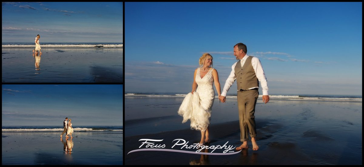 wedding pictures at  Hampton Beach State Park in New Hampshire