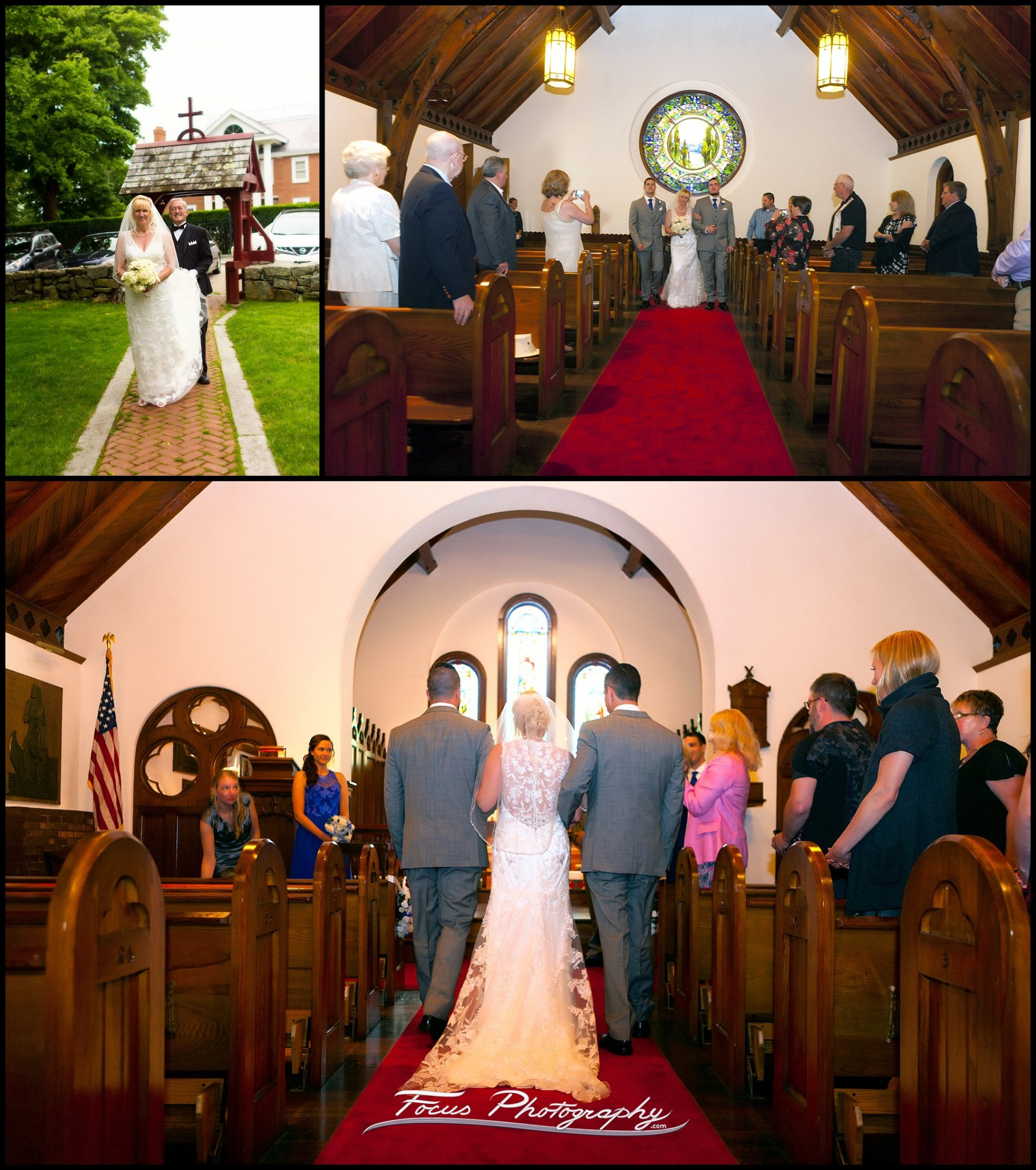 ceremony at Saint Andrew's by the Sea wedding in Rye, New Hampshire