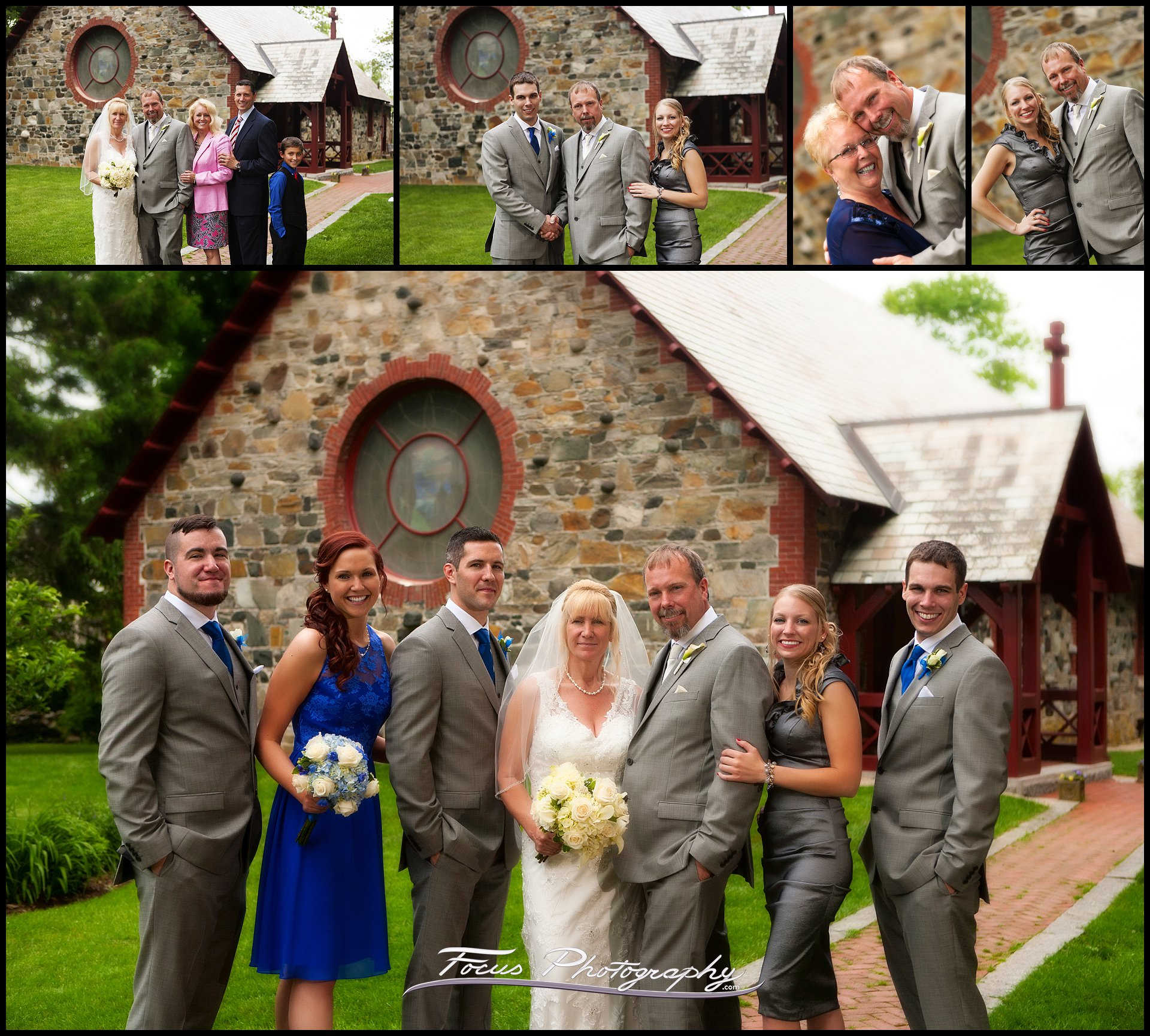 wedding pictures at Saint Andrew's by the Sea in Rye, New Hampshire