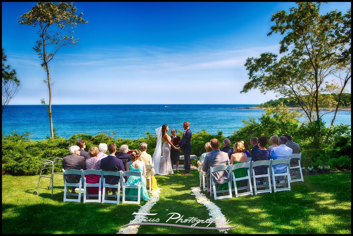 Wedding ceremony at York Harbor Inn and Reading Room