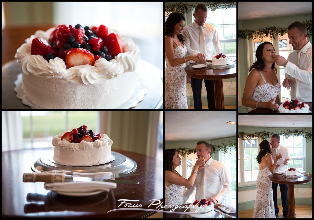Dessert and cake cutting at York Harbor Inn